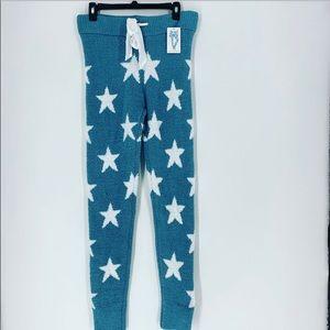 Honeydew chenille  star leggings